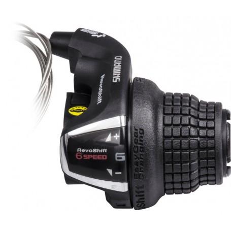 schwarz//silber Shimano Drehgriffschalter TOURNEY SL-RS36 3-fach links