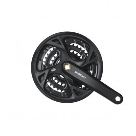 Shimano Crankset Trekking FC-M371 9-speed, 48-36-26 teeth, 170 mm, black