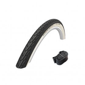 Schwalbe tire Road Cruiser black white 20 – 28 inch wire K-Guard + tubes