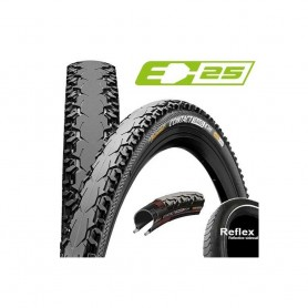 Continental CONTACT Travel bicycle tyre 37-622 Duraskin E-25 wired reflective black