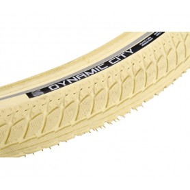 Vredestein DYNAMIC CITY bicycle tyre 47-622 wired reflective strips creme