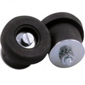 Handlebar Plug Velox screwable Punchcard, black