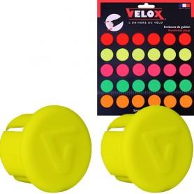 Handlebar Plug Velox Punchcard, neon yellow