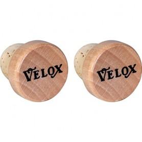 Handlebar Plug Velox Vintage Punchcard, wood/cork