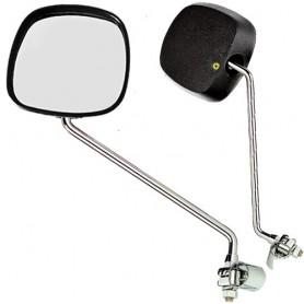 Mirror square rear view B+M chromed