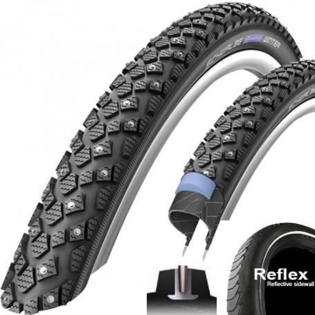 Schwalbe Reifen Marathon WINTER PLUS 24 Zoll 47-507 Draht Reflex schwarz