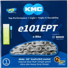 Chain KMC E101 EPT 110 links, silver, box