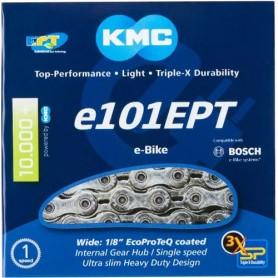 KMC Kette E101 EPT 110 Glieder silber
