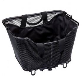 Racktime Innentasche Lea für Fahrradkörbe kohleschwarz