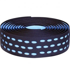 Handlebar Tape Velox Bi-Color Box with plugs, black/azure