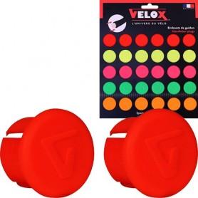 Velox Lenkerstopfen 2 Stück neonrot