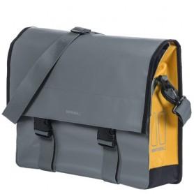Basil Fahrrad-Schultertasche Urban Load Messenger Bag 17 Liter grau gold