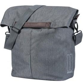 Basil City Shopper Seitentasche 14-16 Liter grau meliert