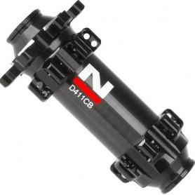Front Hub Novatec MTB Disc Carbon Thru Axle ULTRALIGHT 4 in 1, 24 Holes, black