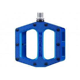 Azonic, Pedale, MTB, Pucker Up Pedal, blau, robustes DH- und AM Pedal, Plattfrom: 100x100mm, hergestellt aus gegossenem Alu,  Ac