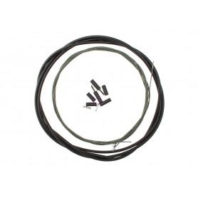 Shimano Optislik Derailleur cable set front & rear Race, black