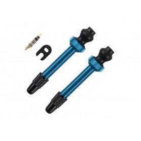 Barbieri Tubeless valve SV (45mm) blue, Aluminium, for conversion of Standard rims on Tubeless-System