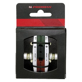PROMAX Cartridge / V-Brake shoes with replaceable 3-coloured Brake blocks