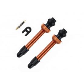 Barbieri, Tubelessventil, SV (45mm), Farbe: orange, Aluminium, zur Umrüstung von Standardfelgen auf Tubeless-System, für fast