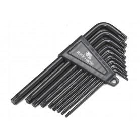 BikeHand Werkstattbedarf Winkelschlüsselsatz 9 teilig für Torx Schrauben schwarz