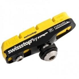SwissStop, Bremsbelag, Race Flash Pro FULL Bremsschuh, Yellow King für Carbonfelgen, Shimano Standard, 2 Stück, (HstNr   swpro