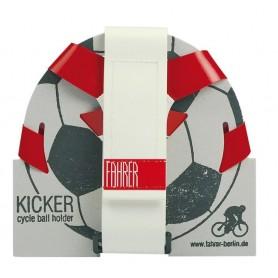 Ballhalter Kicker Fahrer rot/weiß