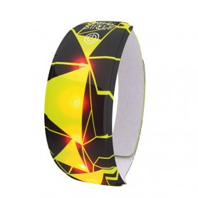 Arm- or Leg band Urban Wowow 5 LED`s yellow reflecting with Velcro® 37x4cm