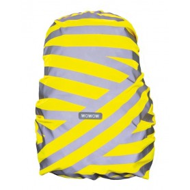 Wowow Backpack cover Berlin silver reflecting stripes yellow