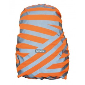 Wowow Backpack cover Berlin silver reflecting stripes orange