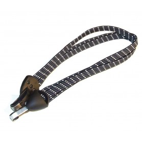 Safety tension belt with Stainless steel hook ca.60cm black white grey box 6 pieces