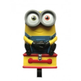 Bike handlebar horn Minion 3D suitably until Ø 22 2mm Blister