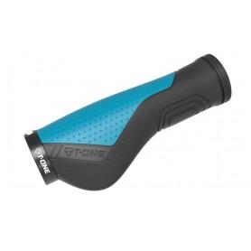 T-One grips Ripple Ergo 130mm 1x screw lock black blue