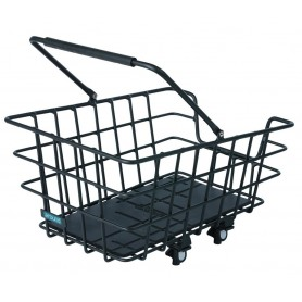 Around Rear wheel basket College Alu black 46x34x22 cm removable wide-meshed