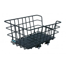 Around Rear wheel basket College Alu black 46x34x22 cm fixed installation wide-meshed