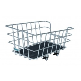 Around Rear wheel basket College Alu silver 46x34x22 cm fixed installation wide-meshed