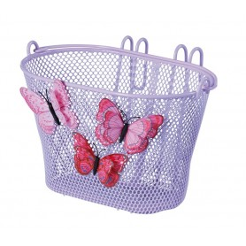 Basil Fornt wheel Kids basket Jasmin purple 28x20x19cm, with handlebar hook close meshed