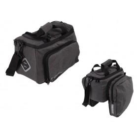 System Fahrradtasche Atranvelo Zap 33x20x16cm, grau, inkl. AVS Adapter