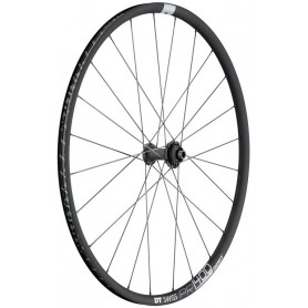 DT Swiss PR1400 Front wheel 622-18 24 hole Dicut DB 21 Alu graphite CL 100/12mm