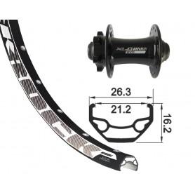 Rodi Black Rock Front wheel 26x1.9 559-21 32 hole Disc black XLC 6-hole