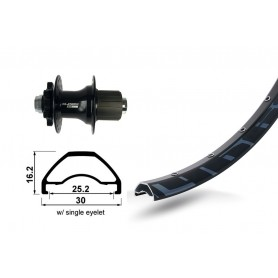 Rodi Ready 25 Rear wheel 27.5 inch 584-25 32 hole Disc black XLC 6-L TA 12