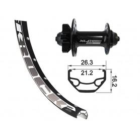 Rodi Black Rock Front wheel 622-21 32 hole Disc black XLC 6-hole SSP