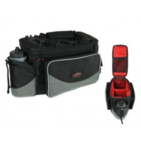 Haberland Pannier rack bag FlexibagTop 40x22x24cm, 20ltr, Uniclip black grey