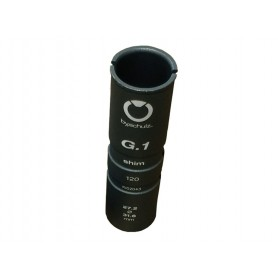Reduzierhülse bySchulz 27,2 - 31,6mm grau, Alu, 120mm