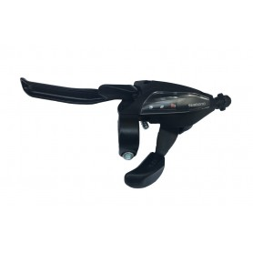 Shimano Shift + brake lever STEF500 4-finger 3-speed left V-Brake black