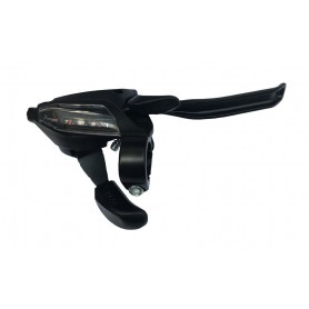 Shimano Shift + brake lever STEF500 4-finger 7-speed right V-Brake black