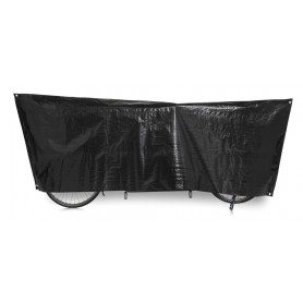 Bike protection cover Tandem VK 110 x 300cm, black incl. eyelets