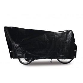 Fahrradschutzhülle Cargo Bike VK 120 x 295cm, schwarz, inkl. 2 große Ösen