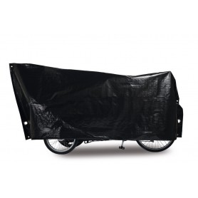 Bike protection cover Cargo Bike VK 120 x 295cm, black incl. 2 large eyelets