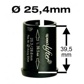 BY.SCHULZ Reduzierhülse Speedlifter 1 1/8 Zoll Ø25,4mm 39,5mm schwarz