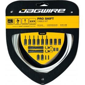 JAGWIRE Schaltzugset 2X Pro Shift Road & Mountain weiß
